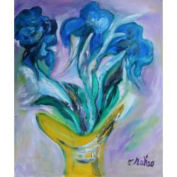 Iris bleus