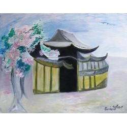 La pagode fleurie au printemps