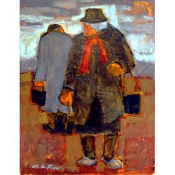 La dame à l'écharpe rouge