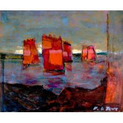 Les voiles rouges du Morbihan
