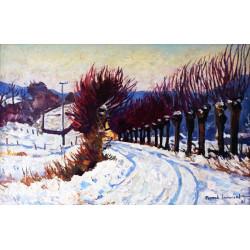 Route sous la neige,...
